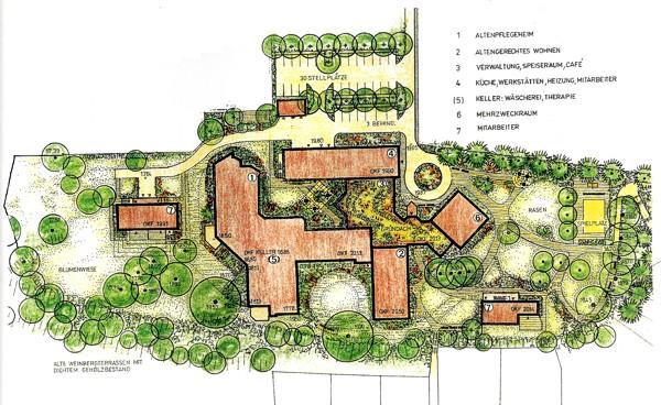 Weinbergareal und Gebäudeplan: Klicken Sie auf das Bild um eine vergrößerte Ansicht zu erhalten