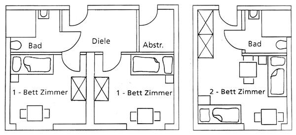 Grundrisse der Zimmer
