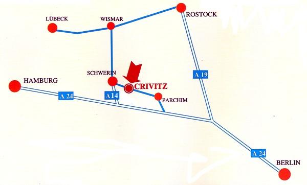 Lageplan von Crivitz